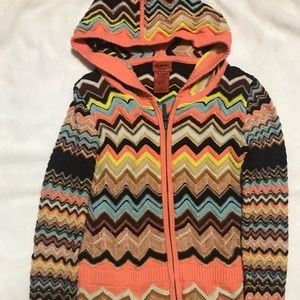 Missoni for target zipper hoodie size small